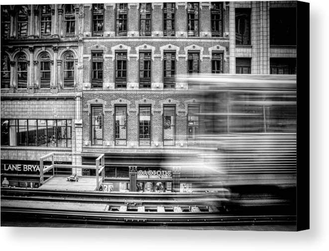 Chicago Canvas Print featuring the photograph The Elevated by Scott Norris