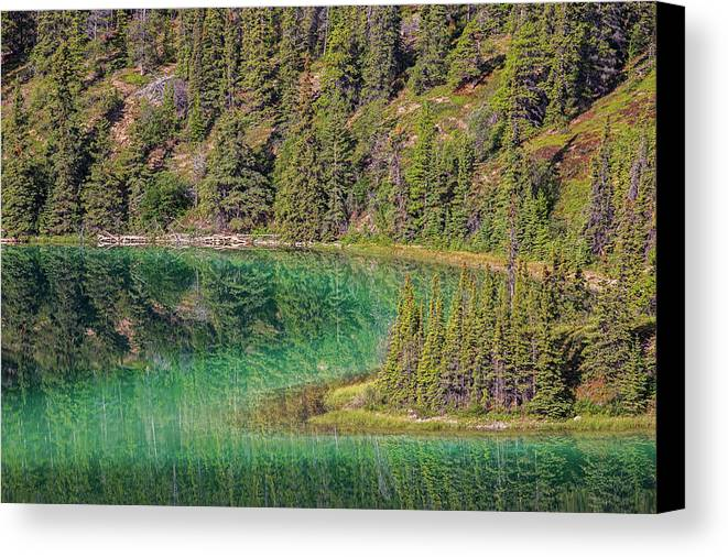 Nature Canvas Print featuring the photograph The Emerald Green Waters Of Emerald by Robert Postma
