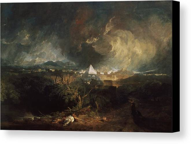 1800 Canvas Print featuring the painting The Fifth Plague Of Egypt by JMW Turner