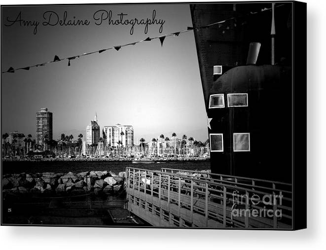 Canvas Print featuring the photograph The Front Of The Large Ship by Amy Delaine