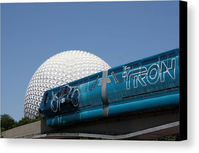 Tron Canvas Print featuring the photograph The Future by David Nicholls
