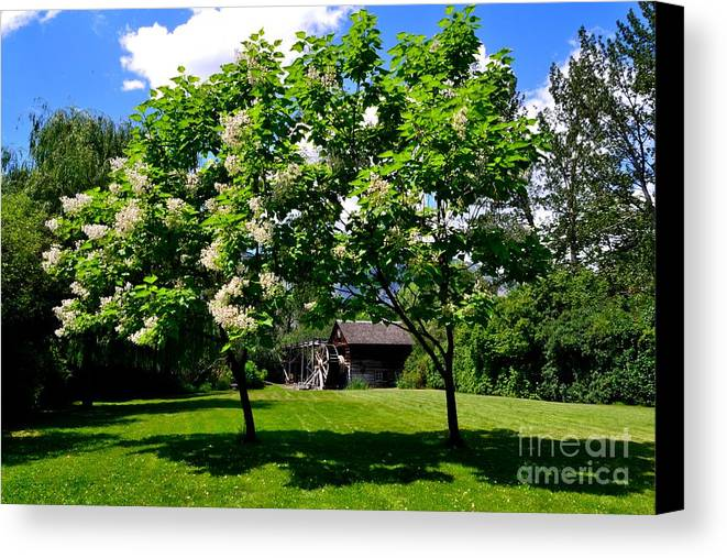 Phil Dionne Photography Canvas Print featuring the photograph The Grist Mill I by Phil Dionne