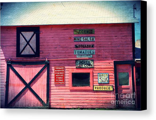 Grocery Canvas Print featuring the photograph The Grocery Store by Sophie Vigneault