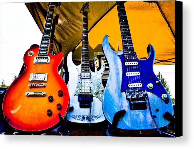 The Kingpins Canvas Print featuring the photograph The Guitars Of Jimmy Dence - The Kingpins by David Patterson