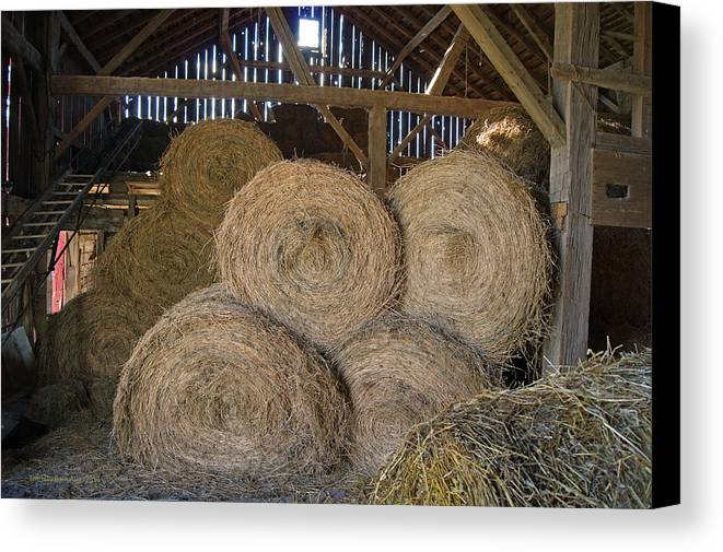 Hay Canvas Print featuring the photograph The Hay Barn by Steph Maxson