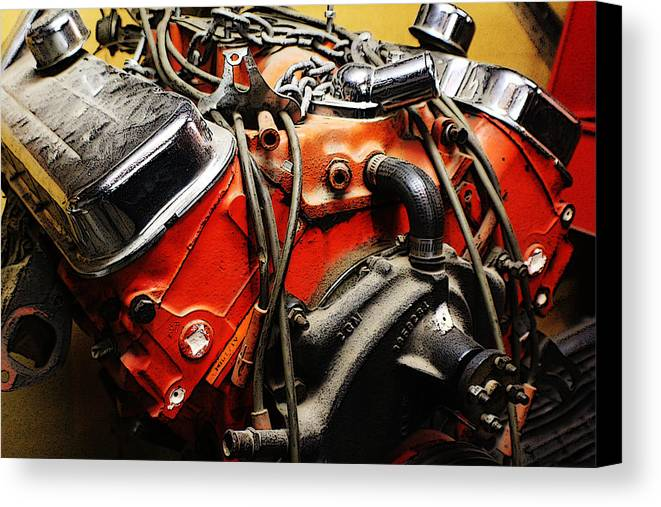 Engine Canvas Print featuring the photograph The Heart Of Clarabelle by Jaclyn Barrows