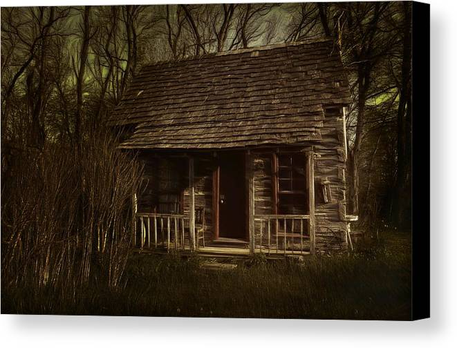 Hermits Canvas Print featuring the photograph The Hermit's Cabin by Julie Dant