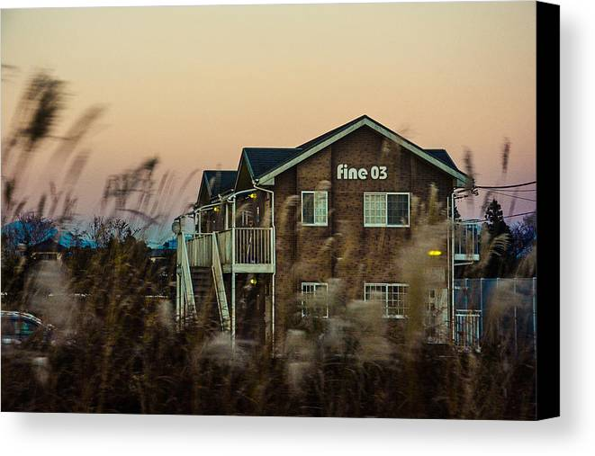 Canvas Print featuring the photograph The House by Danya Ayesya