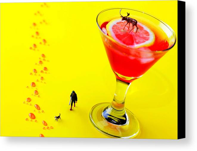 Hunting Canvas Print featuring the photograph The Hunting Little People Big Worlds by Paul Ge