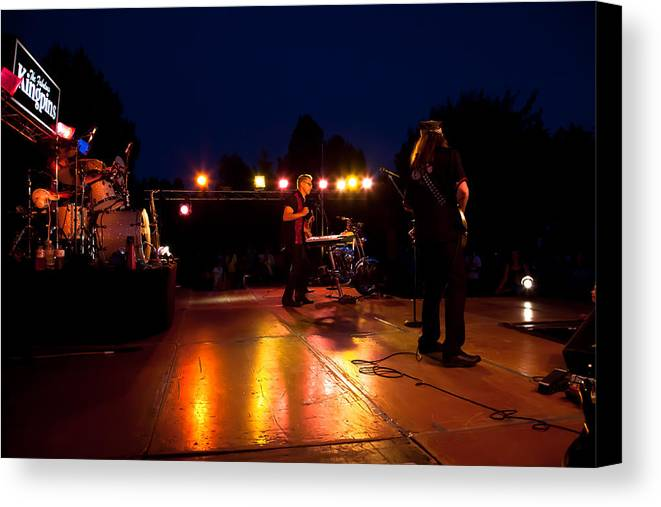 The Kingpins Canvas Print featuring the photograph The Kingpins Rock Pullman by David Patterson
