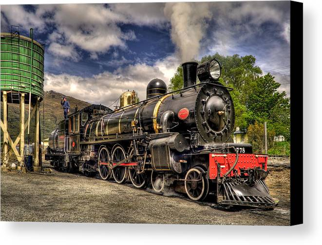 Steam Locomotive Canvas Print featuring the photograph The Kingston Flyer by Phil 'motography' Clark