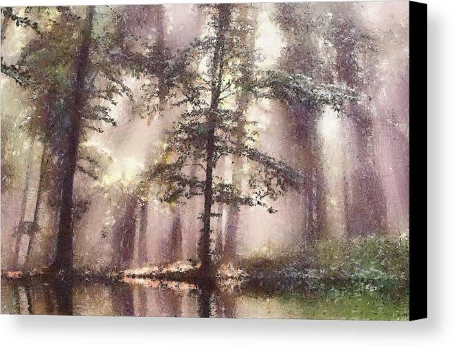 Forest Canvas Print featuring the painting The Magic Forest by Odon Czintos