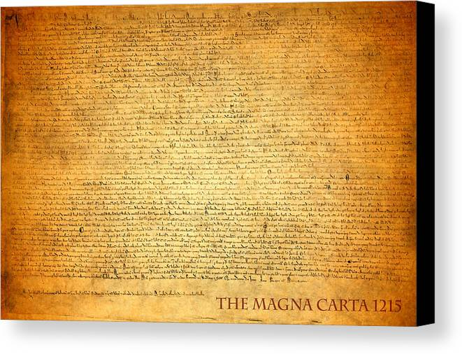 Magna Carta Canvas Print featuring the mixed media The Magna Carta 1215 by Design Turnpike