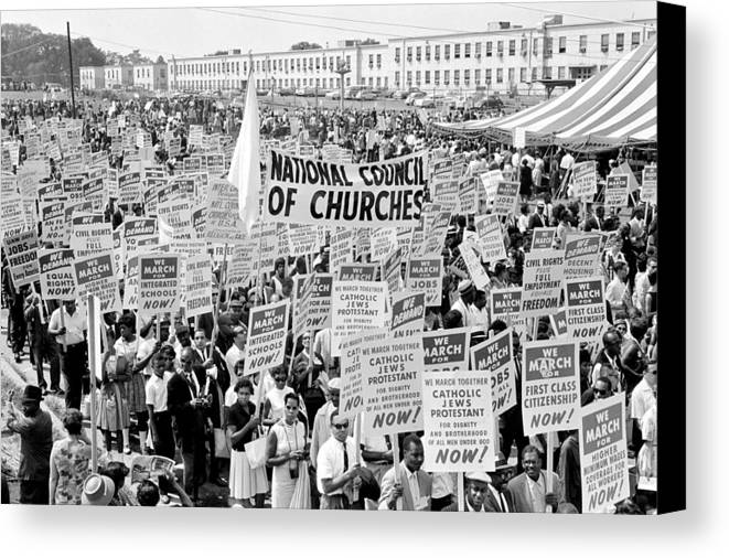 Civil Rights Canvas Print featuring the photograph The March For Civil Rights by Benjamin Yeager