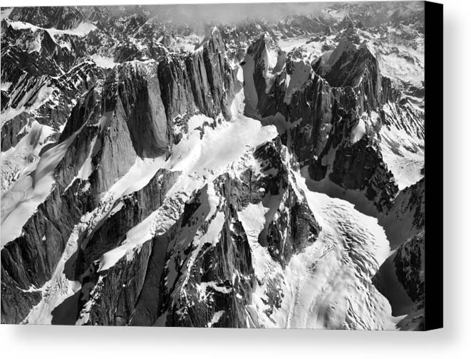 Mooses Tooth Canvas Print featuring the photograph The Mooses Tooth Alaska by Alasdair Turner