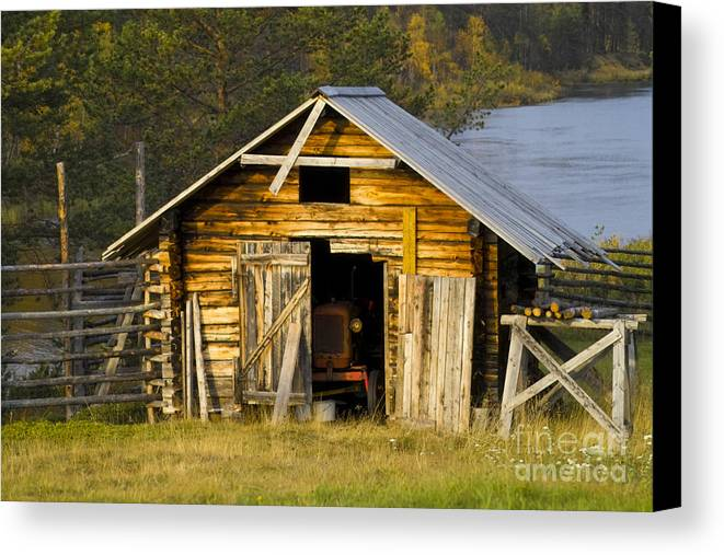 Heiko Canvas Print featuring the photograph The Old Barn by Heiko Koehrer-Wagner