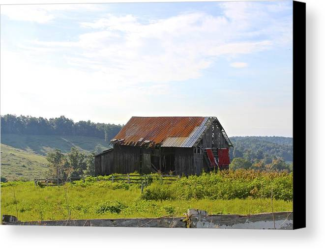 Barn Canvas Print featuring the photograph The Old Barn by LucendaLynn K