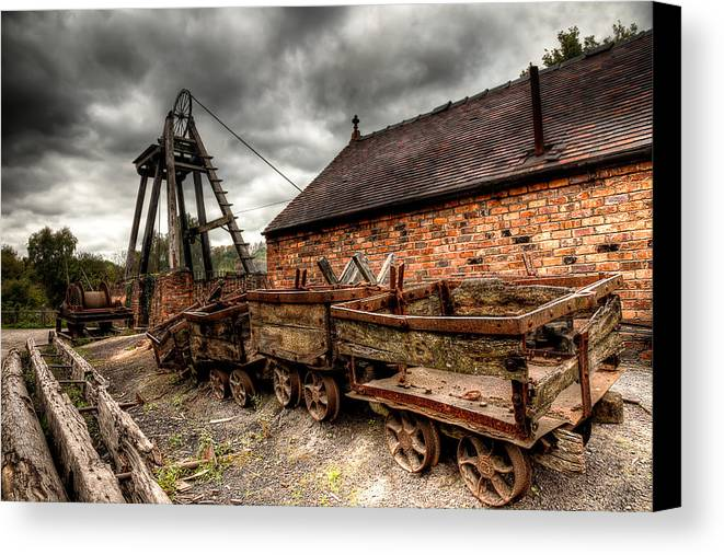 Architecture Canvas Print featuring the photograph The Old Mine by Adrian Evans