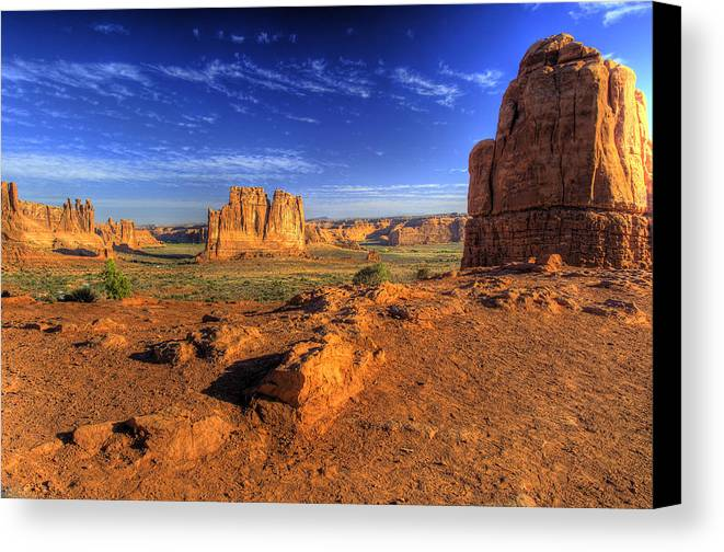 Arches National Park Canvas Print featuring the photograph The Organ-2 by Fred Adsit