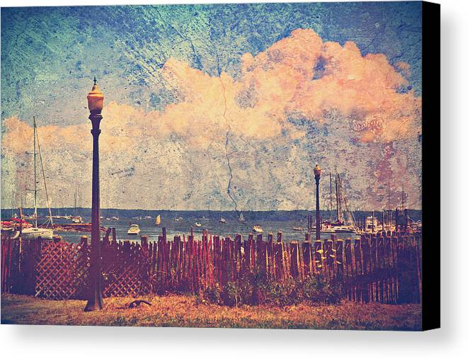 Mamaroneck Canvas Print featuring the photograph The Salty Air Sea Breeze In Her Hair Iv by Aurelio Zucco