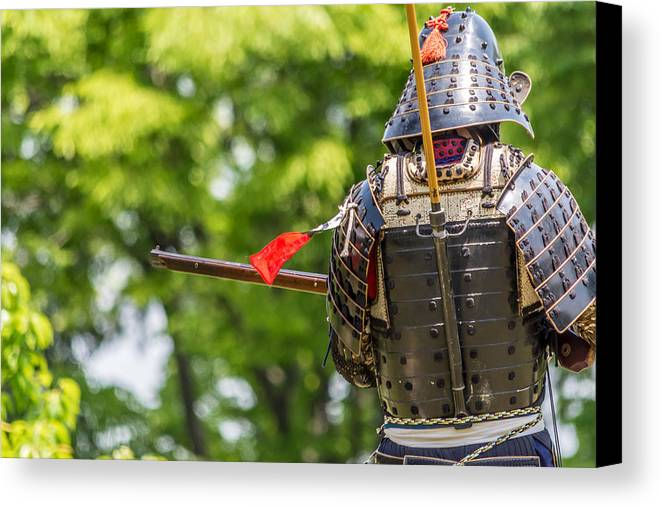 Japan Canvas Print featuring the photograph The Samurai by Jackson Reed