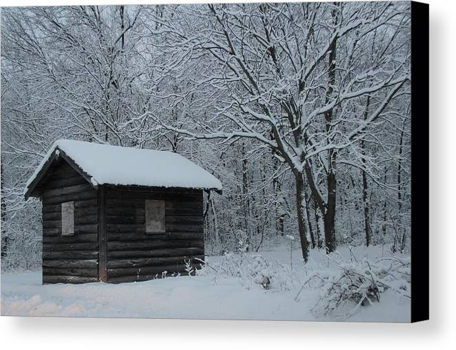 Shack Canvas Print featuring the photograph The Shack by Debbie Nobile