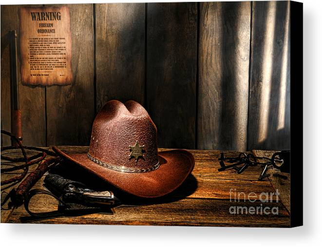 Sheriff Canvas Print featuring the photograph The Sheriff Office by Olivier Le Queinec