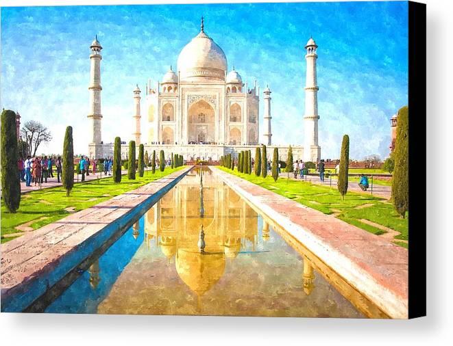 The Taj Mahal Canvas Print / Canvas Art by Gianfranco Weiss