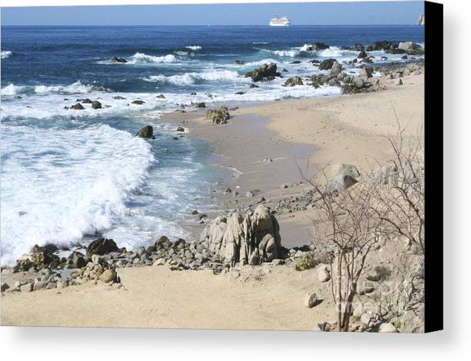 Sea Canvas Print featuring the photograph The Waves - The Sea by Christy Gendalia