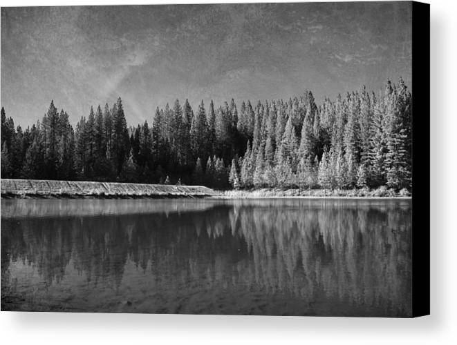 White Pines Lake Community Park Canvas Print featuring the photograph Those Days Are Gone by Laurie Search