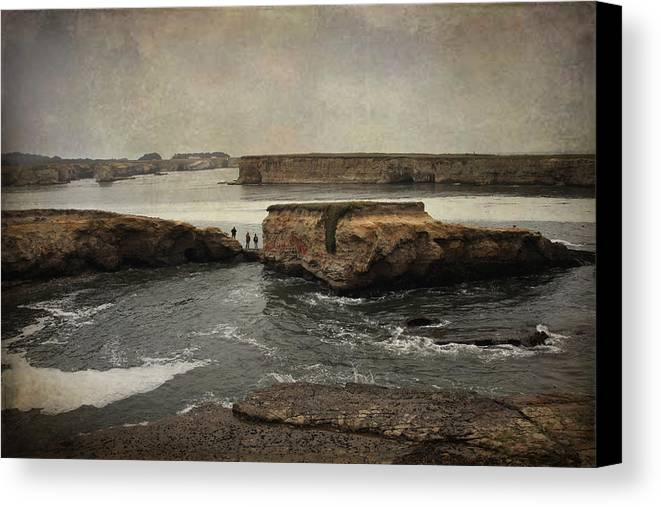 Stornetta Public Lands Canvas Print featuring the photograph Three Fishermen by Laurie Search