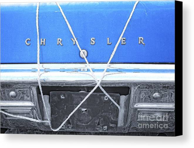 Chrysler Canvas Print featuring the digital art Tied Down Trunk by Lori Frostad