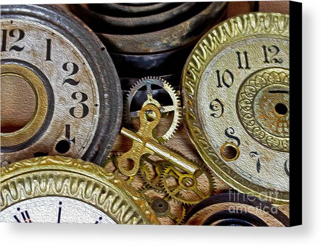 Time Canvas Print featuring the photograph Time Long Gone by Tom Gari Gallery-Three-Photography