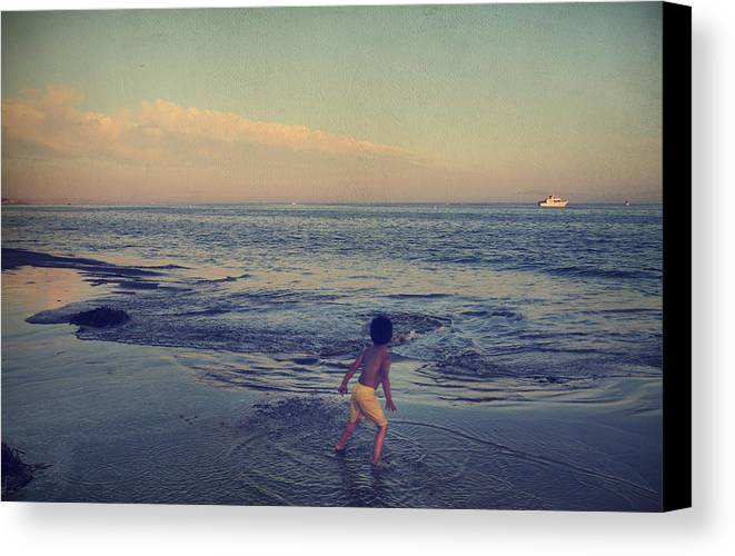 Santa Cruz Canvas Print featuring the photograph To Be Young by Laurie Search