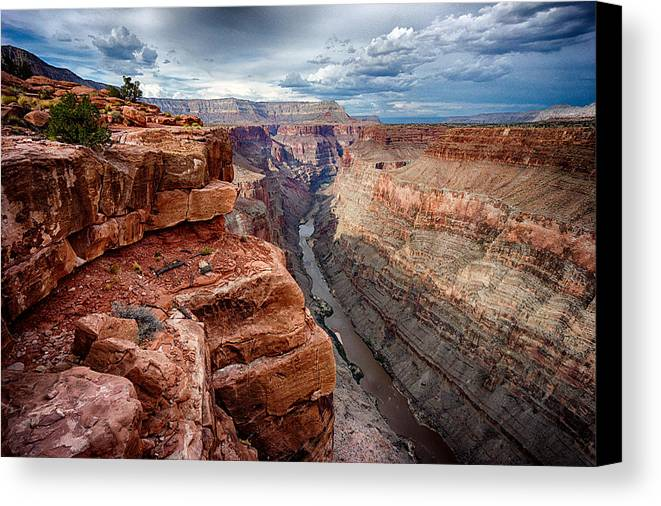 Toroweap Canvas Print featuring the photograph Toroweap by Kevin Rowe