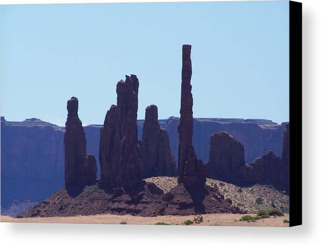 Monument Valley Canvas Print featuring the photograph Totem Pole In Monument Valley by Dany Lison