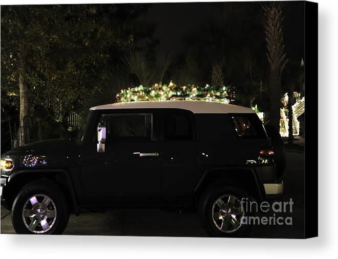 Toyota Canvas Print featuring the photograph Toyota Fj Christmas Lights by Dale Powell