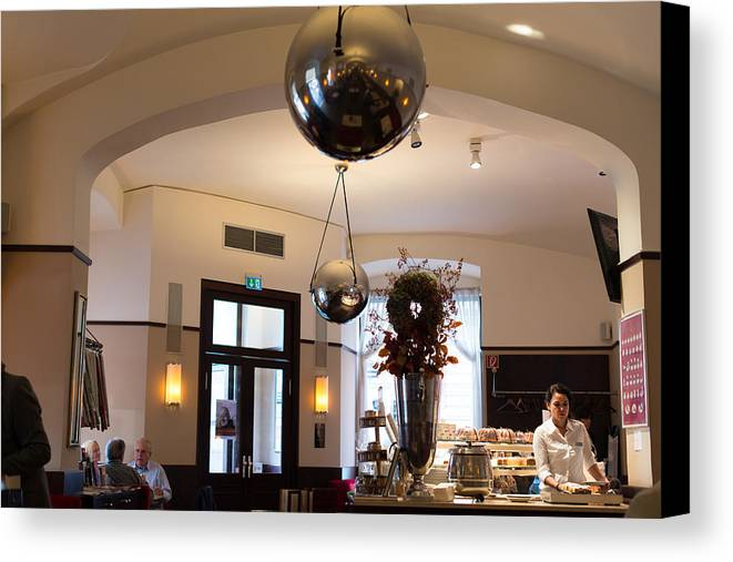 Coffee Canvas Print featuring the photograph Traditional Vienna Coffee House by Frank Gaertner