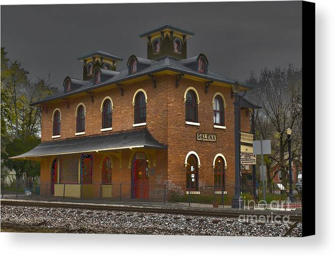 Galena Canvas Print featuring the photograph Train Stop by Alan Look