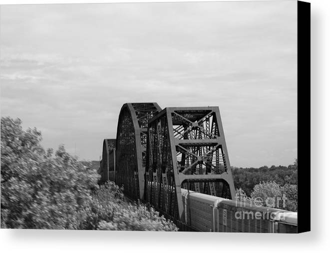 Train Trestle Canvas Print featuring the photograph Train Trestle 1 by Ethyl Lyons