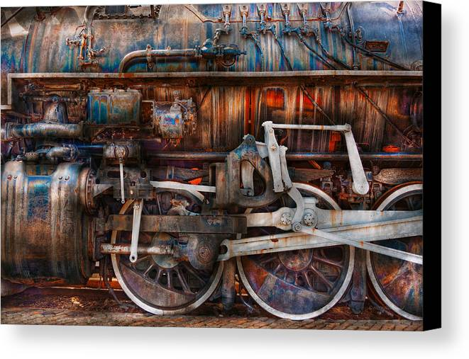 Savad Canvas Print featuring the photograph Train - With Age Comes Beauty by Mike Savad