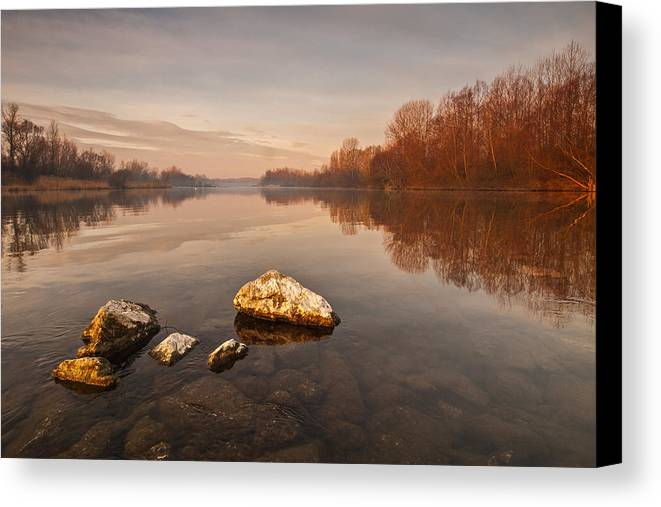 Landscape Canvas Print featuring the photograph Tranquility by Davorin Mance