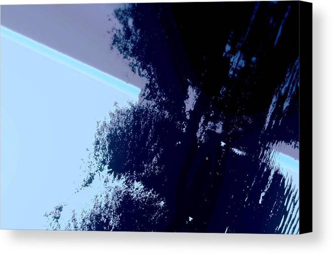 Tree Canvas Print featuring the photograph Tree Reflection Abstract by Annie DeMilo
