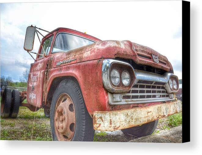 Storms Canvas Print featuring the photograph Truck Treasure by Heather Reichel