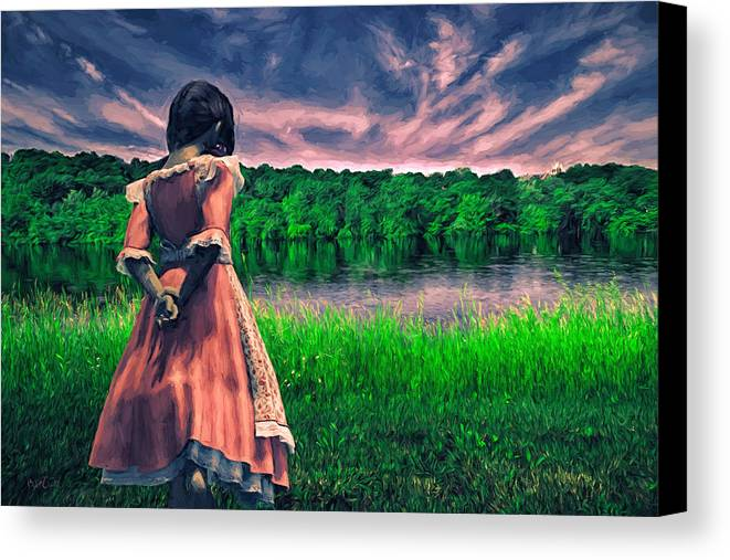 Innocence Canvas Print featuring the painting Tuesdays Child by Bob Orsillo