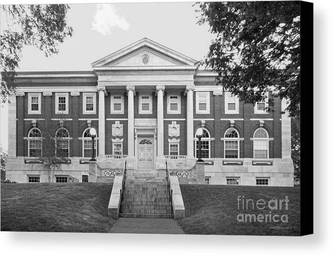 Carnegie Library Canvas Print featuring the photograph Tufts University Eaton Hall by University Icons