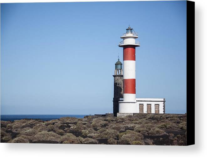 La Palma Canvas Print featuring the photograph Two Light Houses by Ralf Kaiser