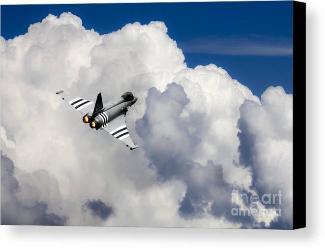Raf Typhoon Canvas Print featuring the digital art Typhoon Fighter by J Biggadike