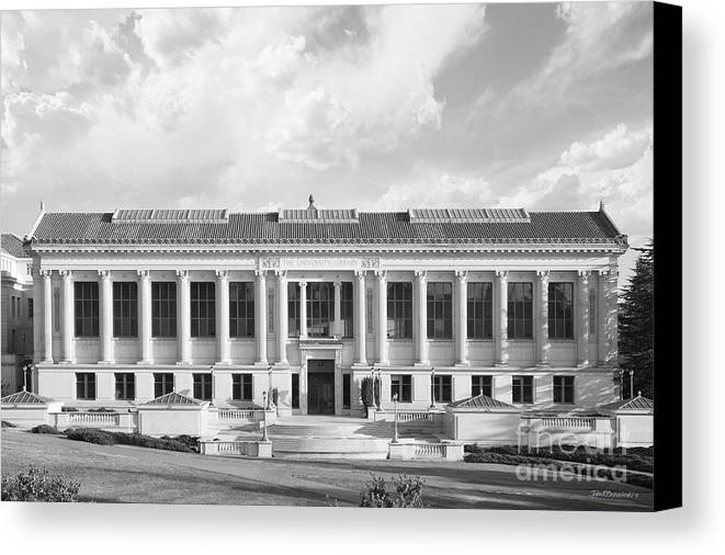 Berkeley Canvas Print featuring the photograph Uc Berkeley Doe Memorial Library by University Icons