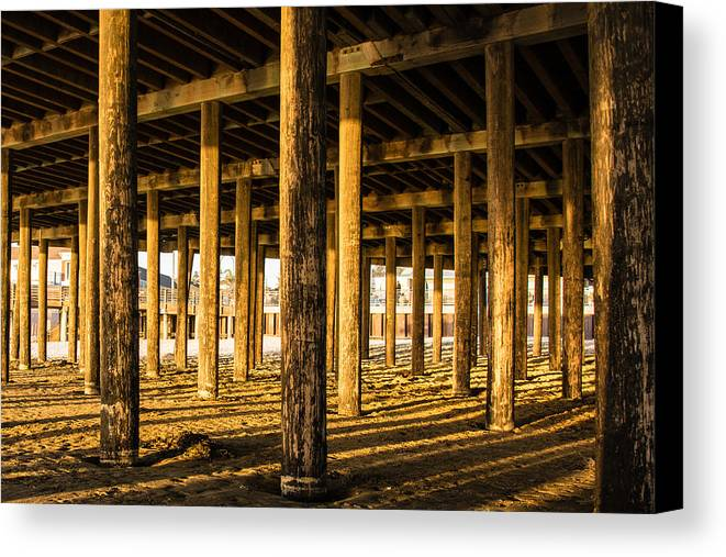 Beach Canvas Print featuring the photograph Under The Boardwalk by Classic Visions